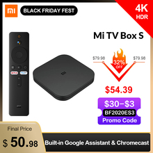 Tv-Box Cast Netflix HDR 4-Media-Player Wifi Smart-Tv Xiaomi Global Android Google Ultra-Hd