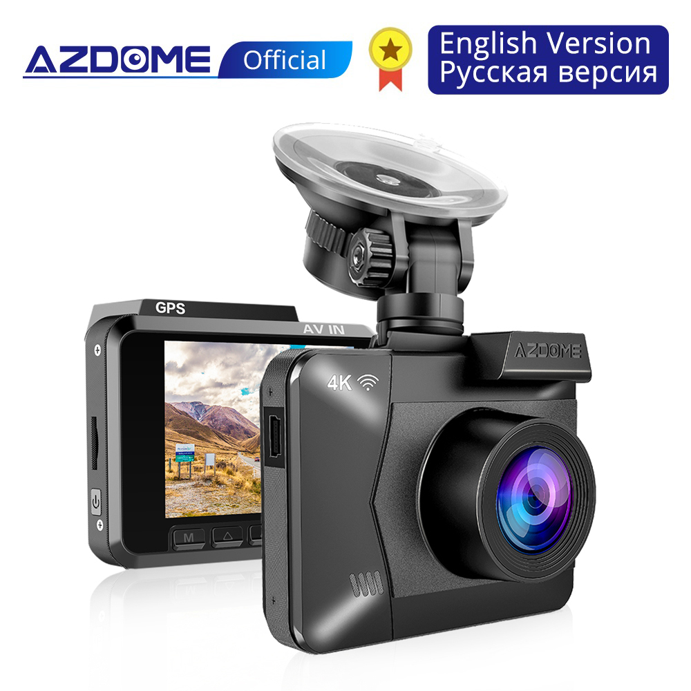 AZDOME M06 WiFi Built in GPS Dual Lens FHD 1080P Front VGA Rear Camera Car DVR