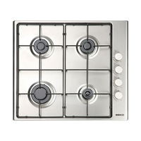 Fogão a gás beko hizg64101sx 60 cm de aço inoxidável (4 fogões)|Cooktops| |  -