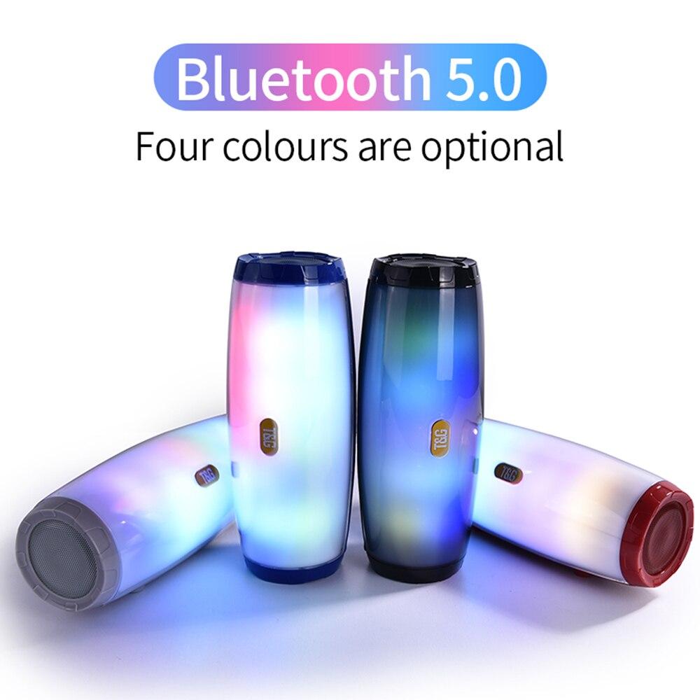 TG-165C TWS Wireless Bluetooth 5.0 Speaker Subwoofer Stereo Soundbar Home Theater Column HIFI Quality Handsfree Call FM Radio TF