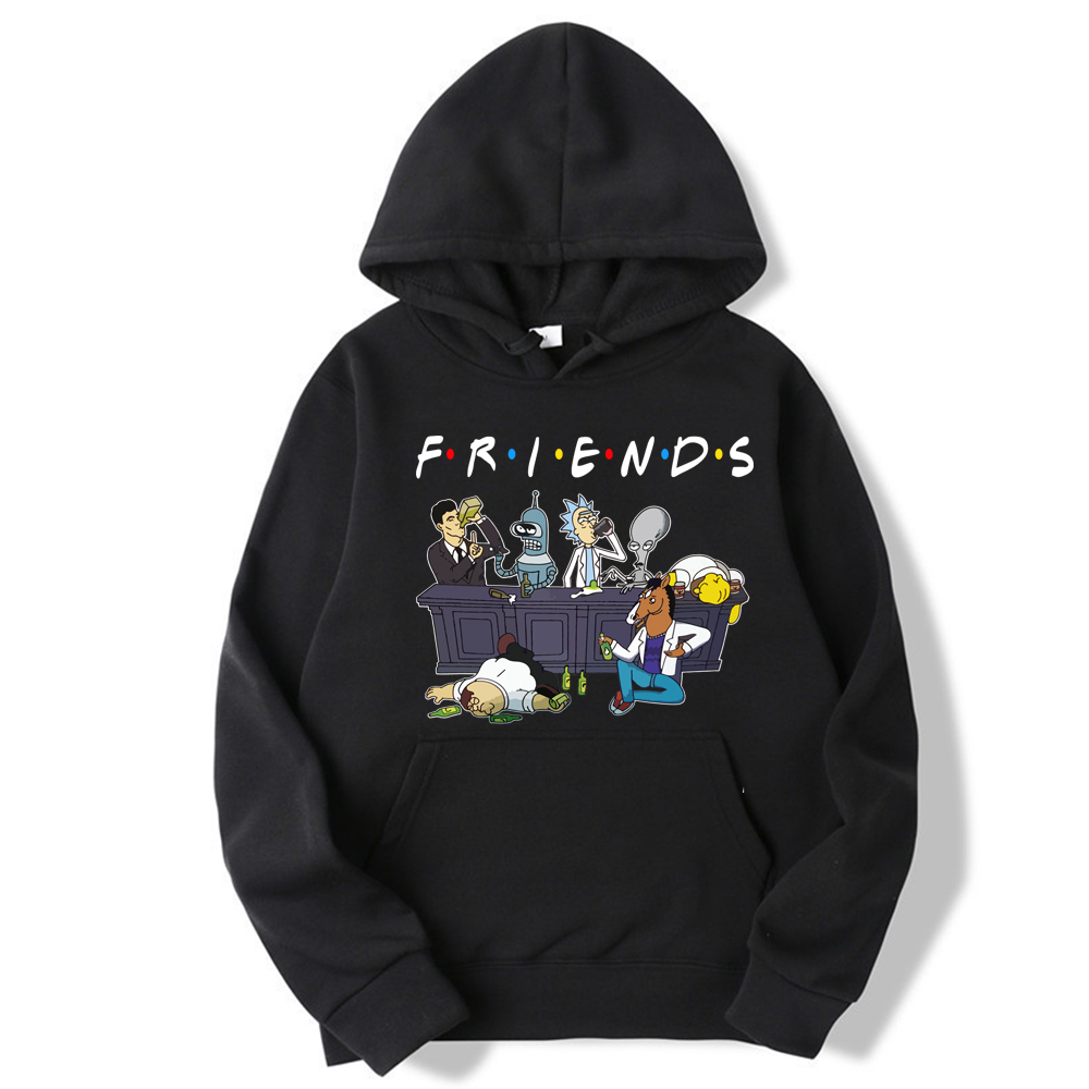 Friends Tv Show Rick & Morty Pete And Roger Drinking Buddies Hoodie