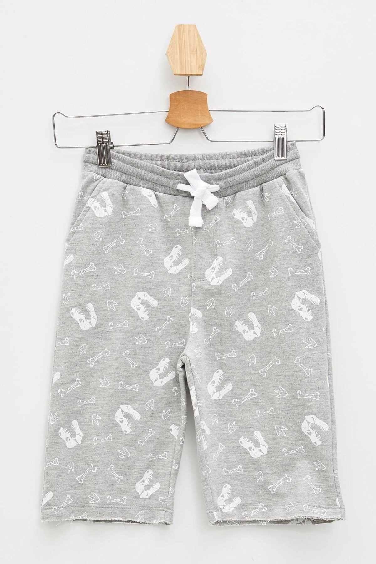 DeFacto Mode Baby Boy Shorts Kinder Beiläufige Nette Print Hosen Kordelzug Shorts Lose Sommer Komfort K6143A619SM