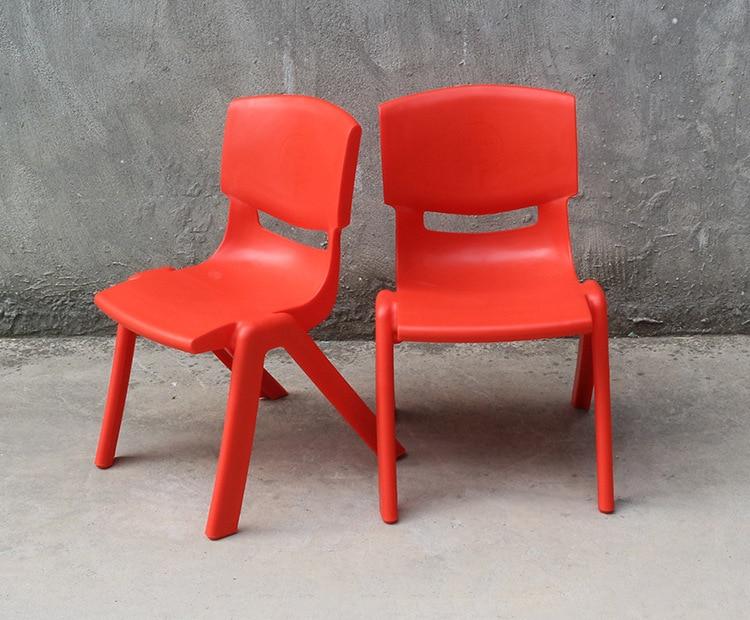 Kindergarten Children's Environmental Protection Plastic Chair Students' Back Chair Children's Dining Stool