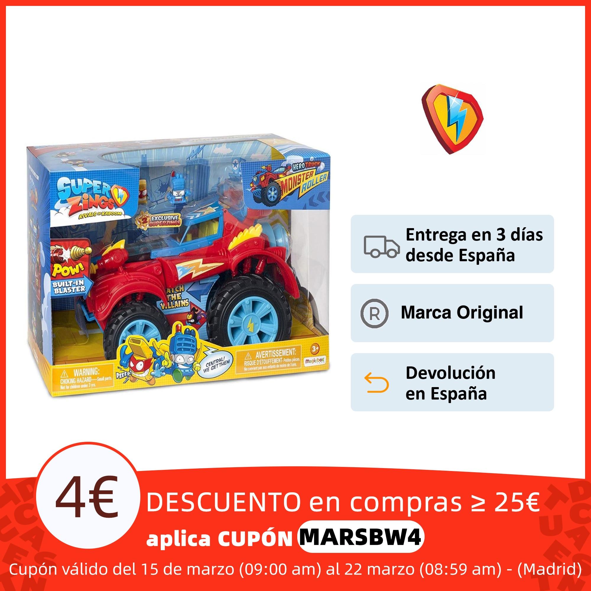 SuperZings PlaySet Héroe Truck con Vehículo y 2 Figuras Especiales coleccionables Juego de colección de cartas  - AliExpress