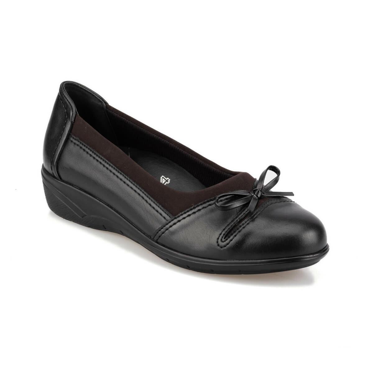 FLO 92.101012.Z Black Women 'S Wedges Shoes Polaris 5 Point