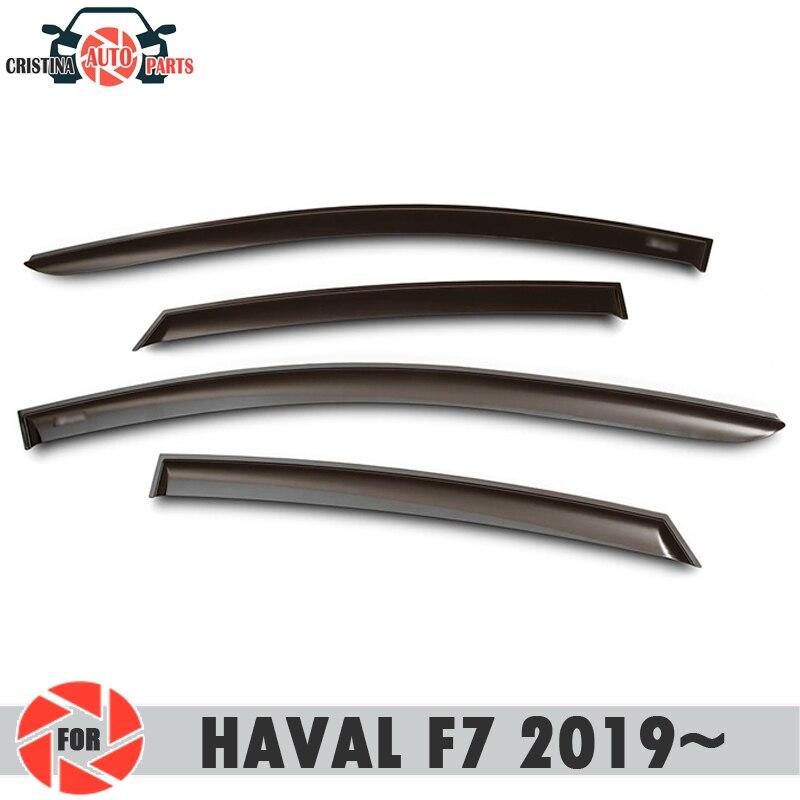 חלון מטה הטיה עבור HAVAL F7 2019 ~ גשם הטיה לכלוך הגנת רכב סטיילינג קישוט אביזרי דפוס