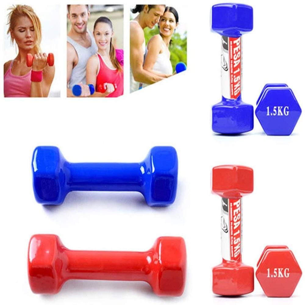 Plastic Dumbbell For Women, Dumbbell Fitness Lasting, With Style, Smooth Surface, From 4 Kilos, Portable Optional, 2 Pieces