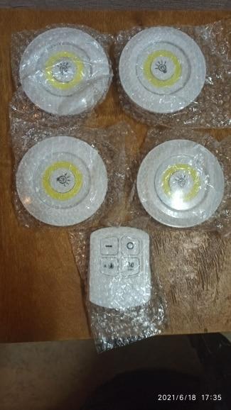 Pack de 3 lampes LED sans fil télécommandées photo review