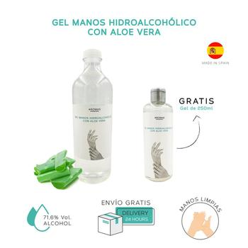 1.5 ltr-Gel hands Hidroalcoholico + Gift | With Aloe Vera Gel 250 ml | Rinse | hand sanitizer hands with alcohol