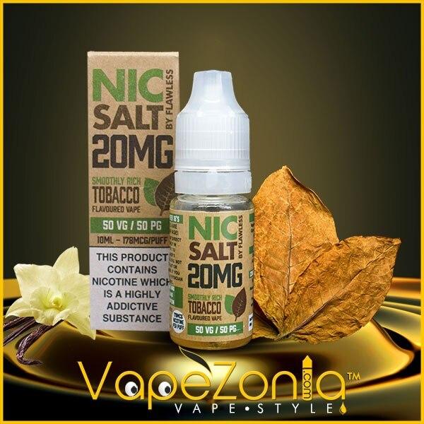 Nic Salt Flawless SMOOTHLY RICH TOBACCO 10 Ml