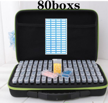 20/40/80 boxs diamond painting box Diamond Embroidery Accessories diamond mosaic Carry Case Container Storage Box Hand Bag Tools