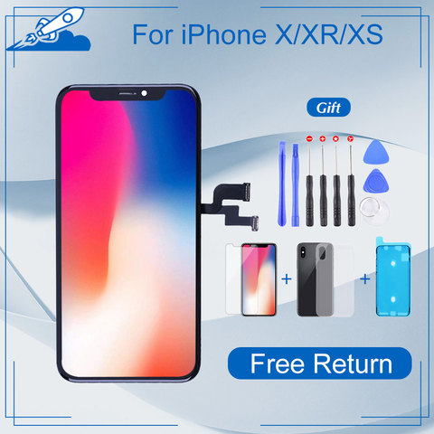 Elekworld Grade For iphone X OLED XS XR TFT With 3D Touch Digitizer Assembly No Dead Pixel LCD Screen Replacement Display Pakistan