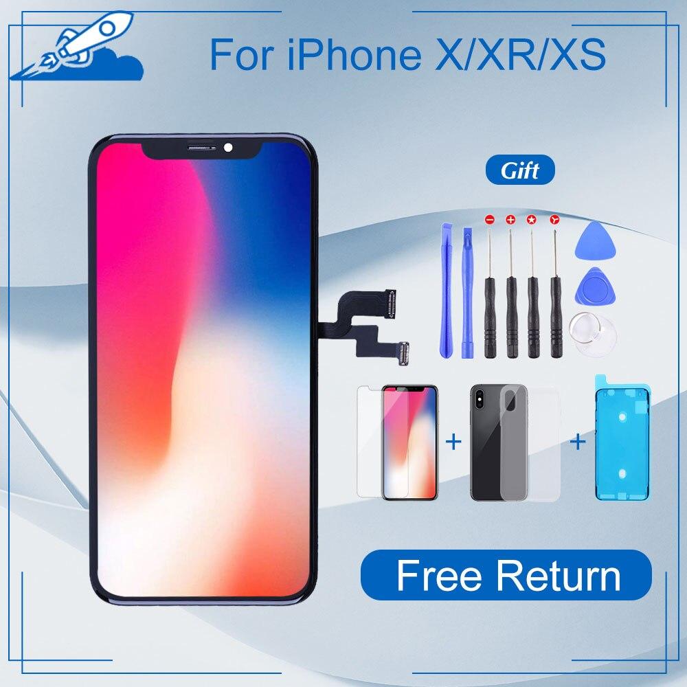 Elekworld sınıfı iphone X OLED XS XR TFT 3D dokunmatik sayısallaştırıcı tertibatı için hiçbir ölü piksel LCD ekran yedek ekran