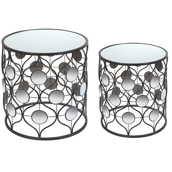 Set Of 2 Small Tables Iron (49 X 49 X 54 Cm)
