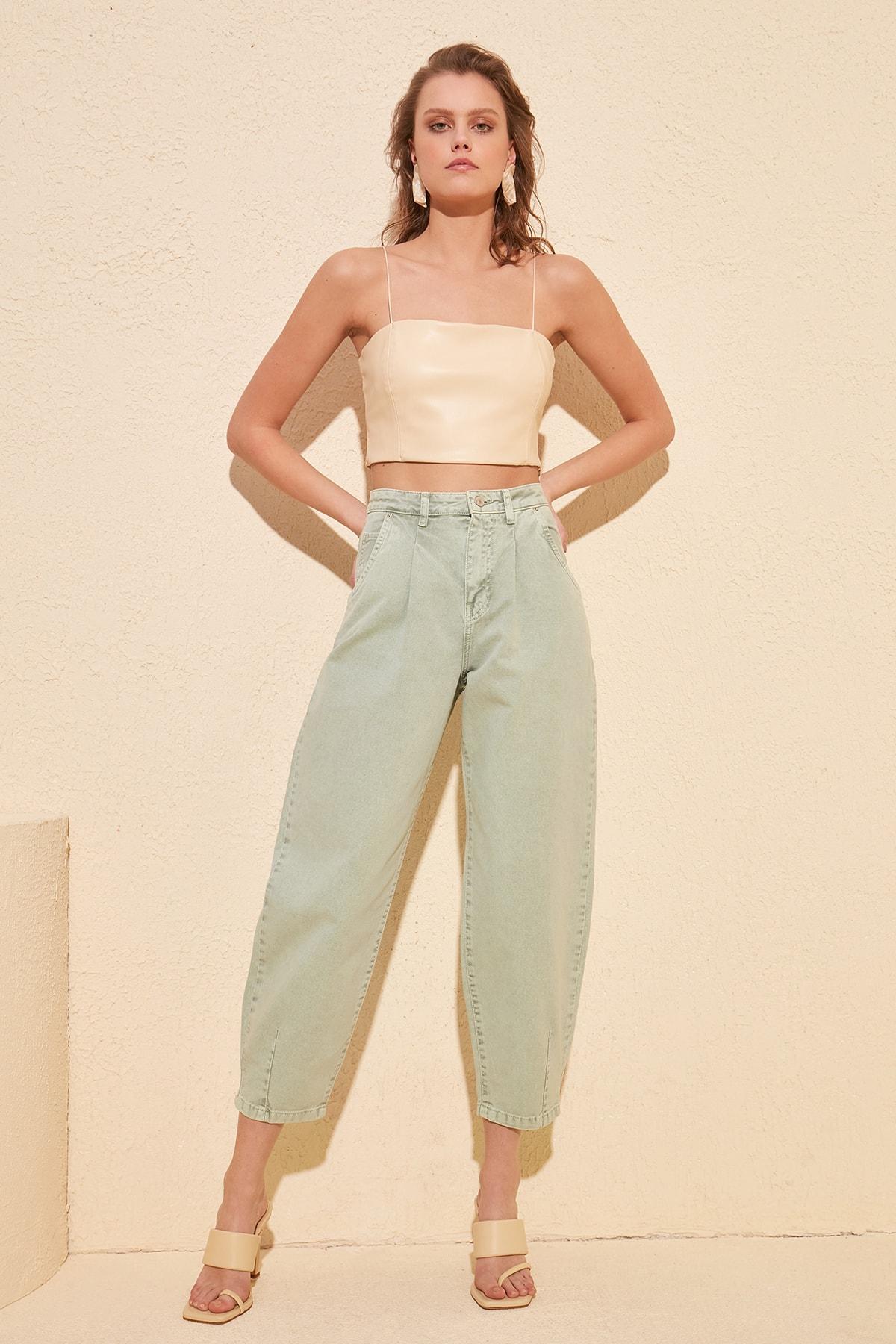 Trendyol High Bel Balloon Jeans TWOSS20JE0359