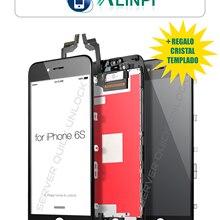 Pantalla Completa para iPhone 6S Negra Tactil Digitalizador + LCD + Marco Negro + Cristal Templado Calidad AAA+ Envio 24h