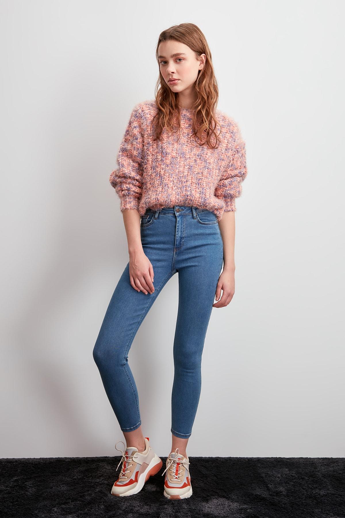 Trendyol High Waist Skinny Jeans TWOSS20JE0004