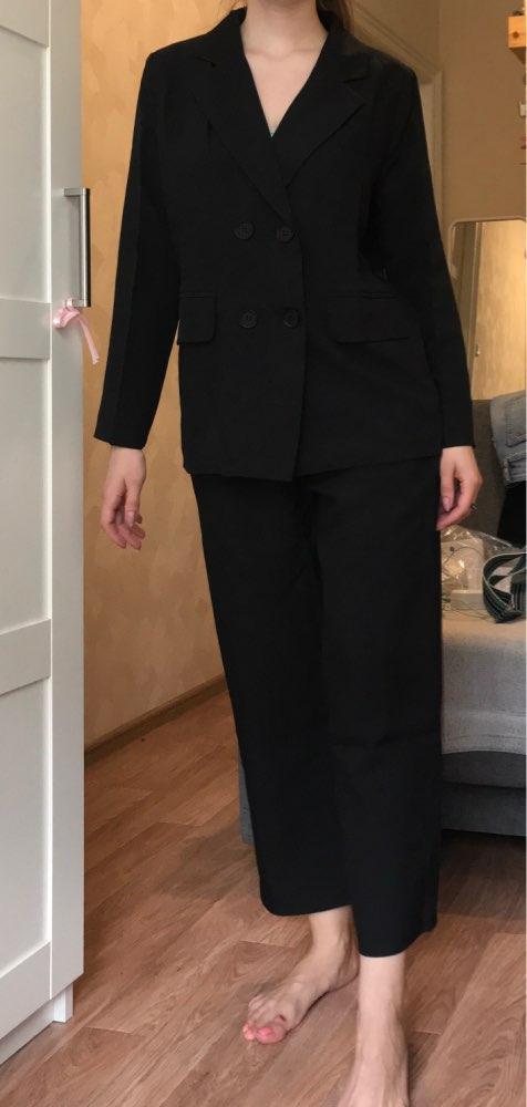 Autumn Winter  Women Lace Up Pant Suit Notched Blazer Jacket & Pant Office Wear Suits Female Sets reviews №1 115329