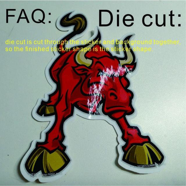 Etiqueta adesiva da etiqueta da forma especial cortada que imprime costume/faq: o que é cortado