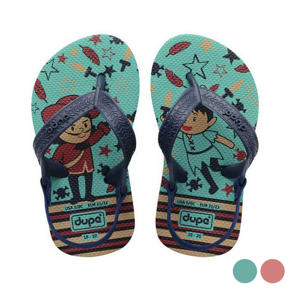Flip Flops For Children Dupé Fairytale Green