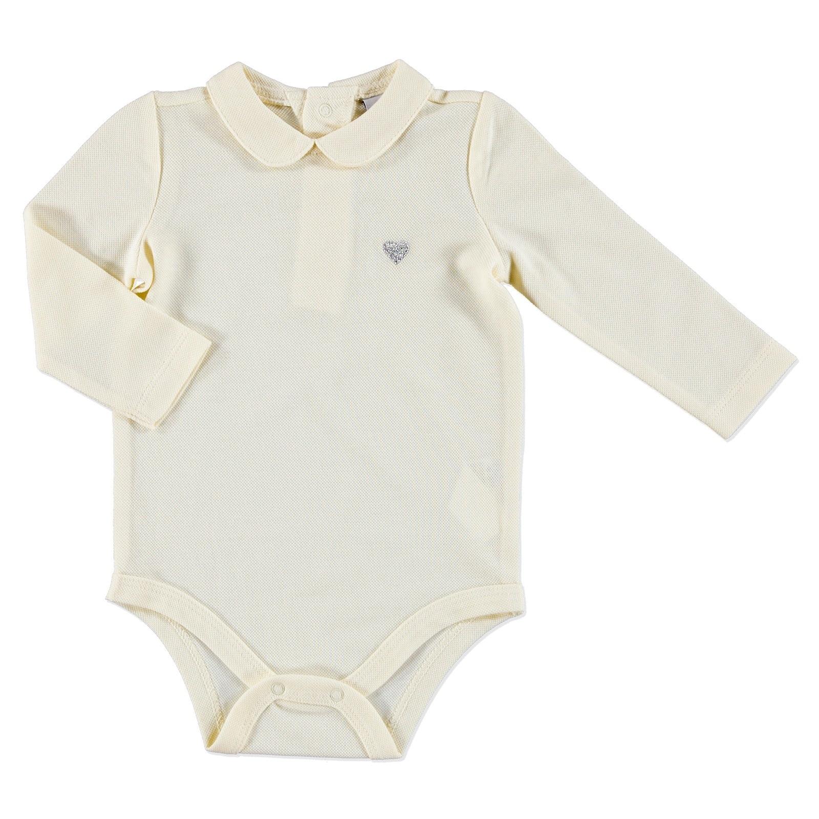 Ebebek HelloBaby Petter Pan Collar Baby Long Sleeve Bodysuit