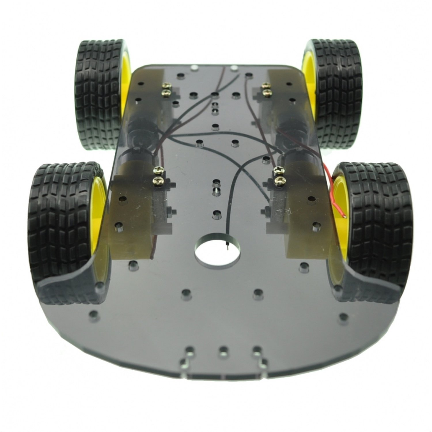 4 WD Four-wheel mobile robot Car Chassis four wheel drive smart robot car chassis for 4wd yellow black 2 x 18650