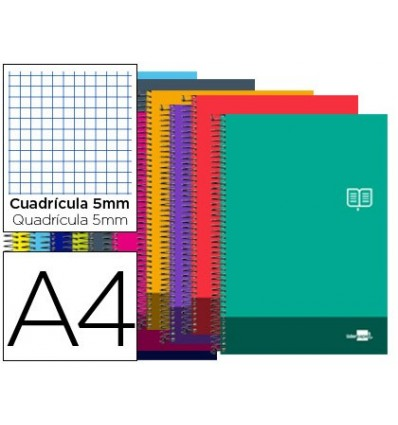 SPIRAL NOTEBOOK LEADERPAPER A4 MICRO DISCOVER SOFTCOVER 80H 80GSM TABLE 5MM DOUBLE MARGIN 4 DRILLS