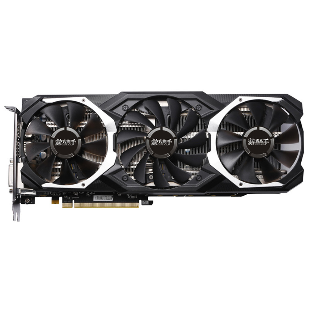 Yeston Rx 580 8Gb Gpu 256Bit Ddr5 Grafikkarte Pci-E 3,0 4 <font><b>x</b></font> Hdmi 14Nm image