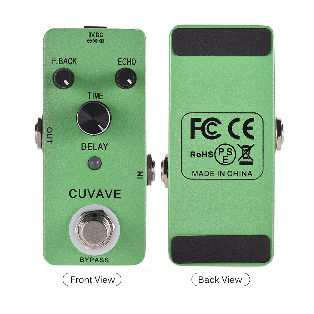 Guitar Effect Pedal With Classic Delay Effect CUVAVE DELAY Analog Echo Guitar Pedal Zinc Alloy Shell True Bypass Guitar Parts