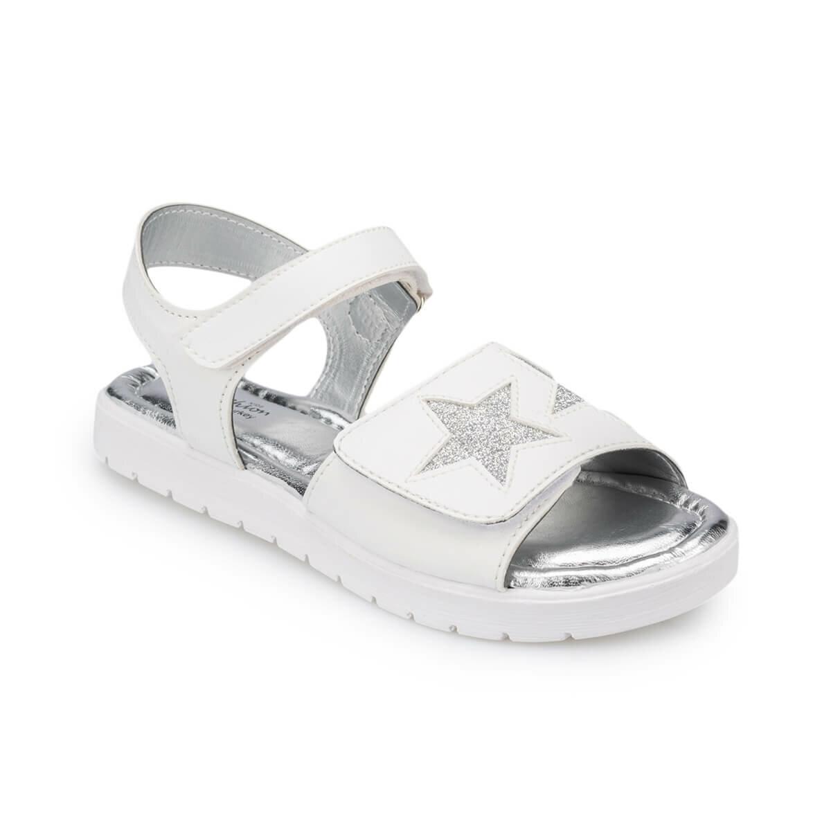 FLO 91.511280.F White Female Child Sandals Polaris