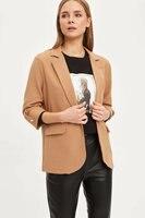DeFacto Woman Stylish Jacket Coats Office Lady Coat Tops OL Spring Suits Solid Color N1286AZ20SP