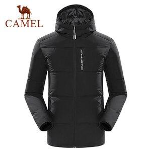 Image 1 - سترة للرجال والنساء للشتاء الدافئ 80% سترة بيضاء بقلنسوة للمشي لمسافات طويلة معطف للخروجات اليومية للرجال والنساء chaqueta hombre