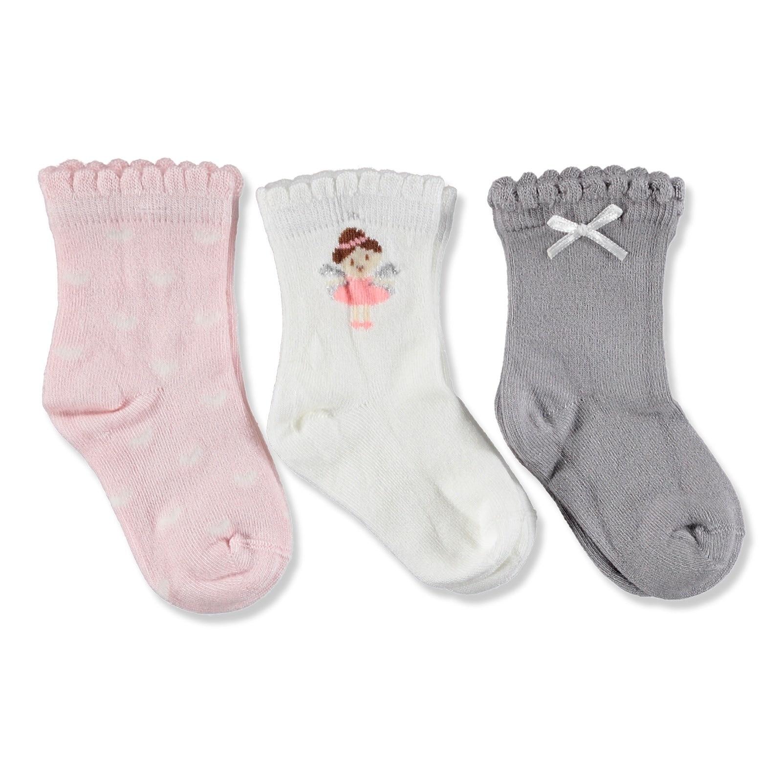 Ebebek Step 3 Pack Baby Socks Bus