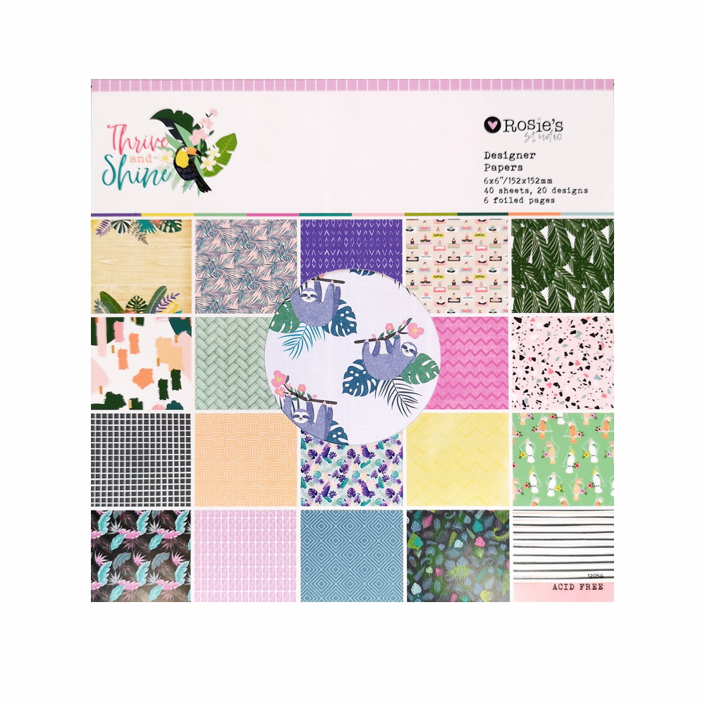 CRZCrafter 152x152mm 6 inch Scrapbooking Paper Pad 40 sheets Craft Paper Background pattern pack Acid free 1