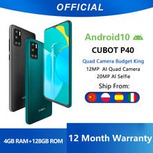 Cubot P40-Smartfon G4 cztery tylne aparaty + aparat do selfie LTE NFC 20 megapikseli telefon komórkowy z systemem Android 10 Dual SIM bateria 4200 mAh 4GB RAM 128GB pamięci wewnętrznej ekran 6 2 cala tanie tanio Odpinany CN (pochodzenie) Rozpoznawania twarzy Inne 12MP MCharge Smartfony Pojemnościowy ekran Angielski Rosyjski Niemiecki