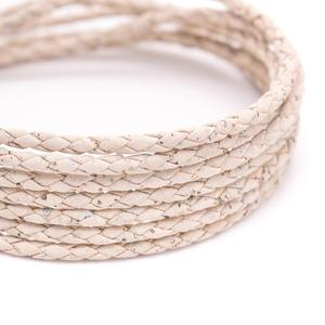 Image 3 - Portuguese natural cork Braided 3mm white round cork cord rope wholesale jewelry supplies /Findings Cor 179 10