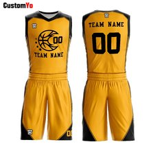 Wholesale 100%Polyester Team Wear Fashion High Quality Customized Basketball Jersey(China)