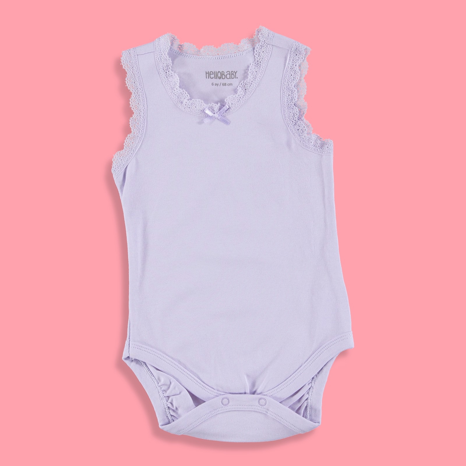 Ebebek HelloBaby Baby Girl Lacy Detailed Bodysuit