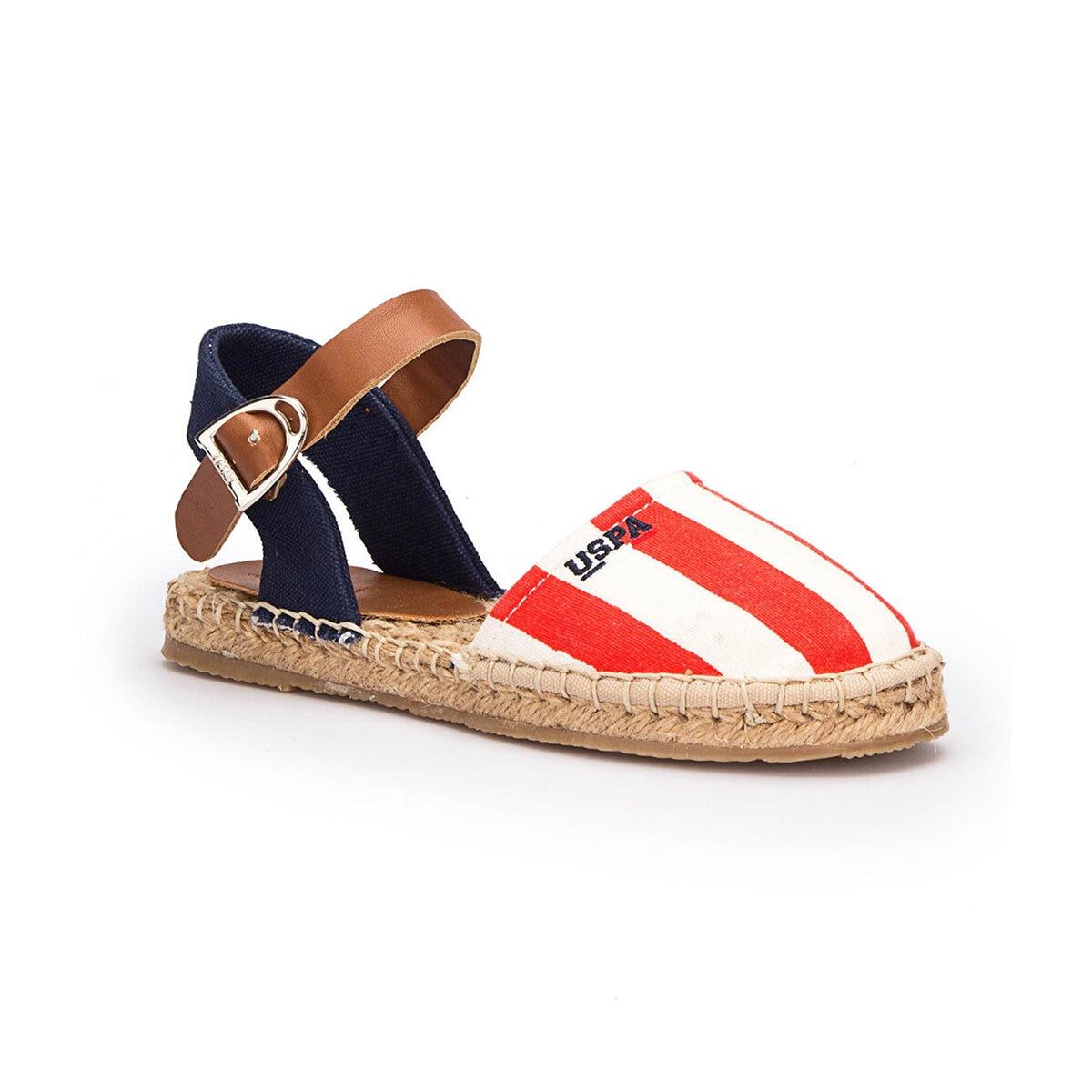 FLO LEONES Red Female Child Espadril Shoes U.S. POLO ASSN.