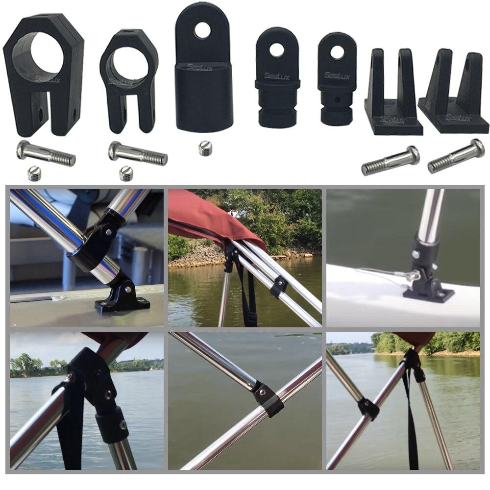 Sealux Bimini & Dodger Frame Hardware Deck Hinge Eye-end Jaw Slide Nylon Black Plastic Marine Accessory Boat Yacht Fishing
