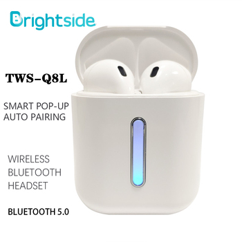 цена на Brightside Tws Bluetooth Earphone Wireless Headphones Bluetooth gaming sport Earbuds Headsets With Microphone