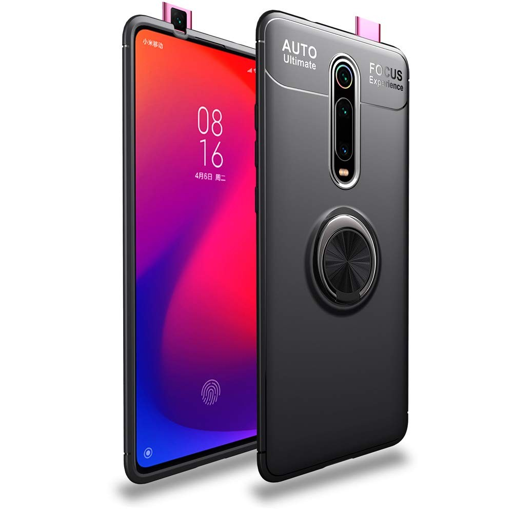 Stand case Silicone with Ring for Xiaomi Mi 9T Black|Fitted Cases| |  - title=