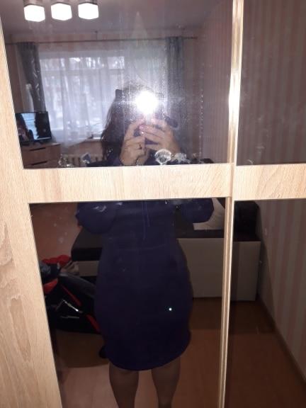 Autumn Winter Warm Sweatshirt Long Sleeved Dress Elegant Fashion Casual Clothing Woman Dress Vestidos photo review