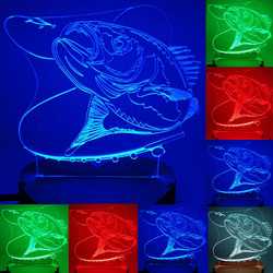 N-064-Fishing fish hook-3D USB led Eco-friendly lamp night light, manual, table night light, home decor,