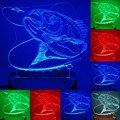 n-064 - Рыбалка рыбка на крючке  -3D USB светодиодный  Эко-светильник-ночник  ручной   настольный ночник  домашний декор