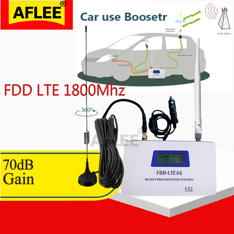 Car Use!! LTE DCS 1800mhz4G Network Mobile Signal Booster Repeater 2G 4G 1800Mhz Cellphone Cellular GSM 1800 Cellular Amplifier