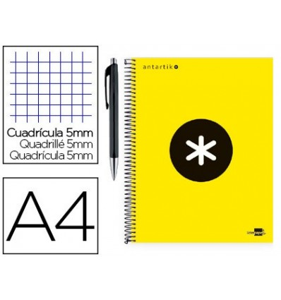 SPIRAL NOTEBOOK LEADERPAPER A4 MICRO ANTARTIK LINED TOP 120 H 100G TABLE 5 MM YELLOW COLOR PROMO CARAN D ACHE