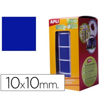 GOMETS SELF-ADHESIVE SQUARE 10X10MM BLUE ON ROLL