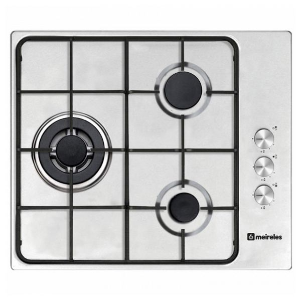 Gas Hob Meireles 60 cm Stainless steel (3 Stoves)|Cooktops| |  - title=