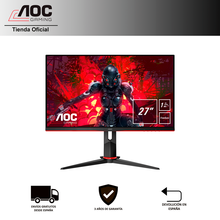 "Monitor PC gaming AOC 27G2U5/BK de 27"" Full HD (1920x1080) IPS, 16:9, 1000:1, 250cd/m, 1ms, 75Hz, FreeSync, FlickerFree, VESA"